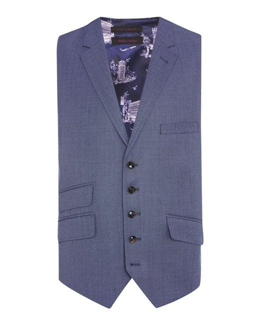 Ted Baker - Blue Modfox Navy Pindot Slim Fit Jacket for Men - Lyst