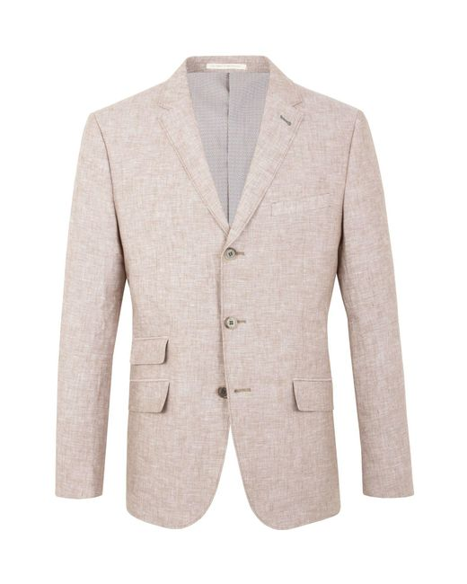 Racing Green - Pink Farley Linen Blazer for Men - Lyst