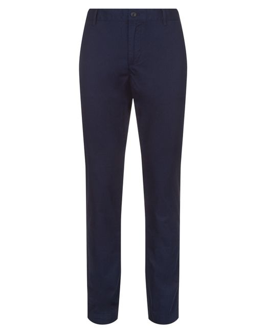 Lacoste - Blue Cotton Twill Chino Pants for Men - Lyst