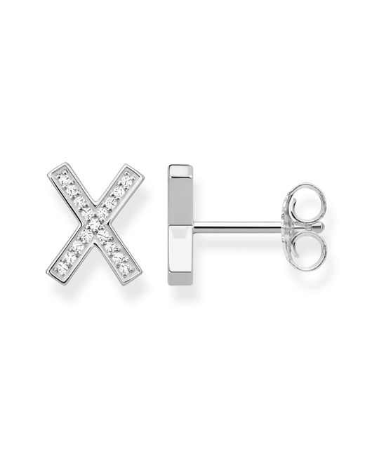 Thomas Sabo - White Large Classic X Ear Studs - Lyst