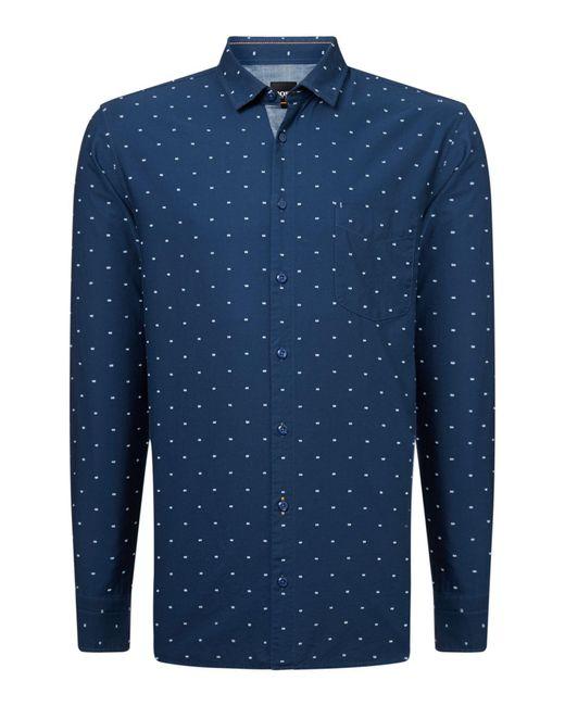 BOSS | Blue Men's Cattiude Geo Shirt for Men | Lyst