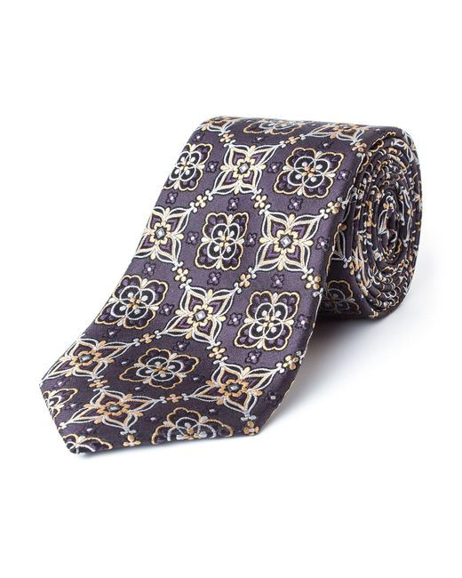 Bäumler | Blue Franz Floral Motif Silk Tie for Men | Lyst