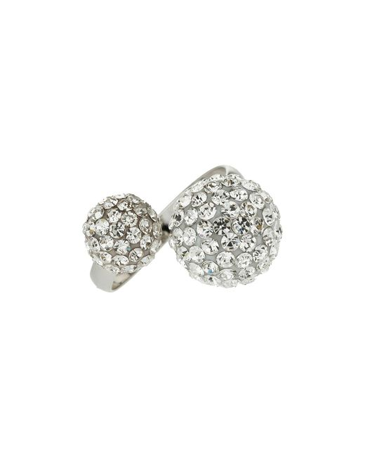Mikey - White Twin Stone Cluster Ring - Lyst
