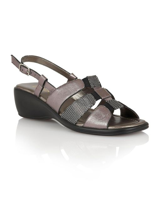 Lotus - Metallic Lantic Open Toe Sandals - Lyst
