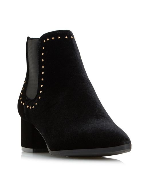 Dune - Black Penly Stud Ankle Boots - Lyst
