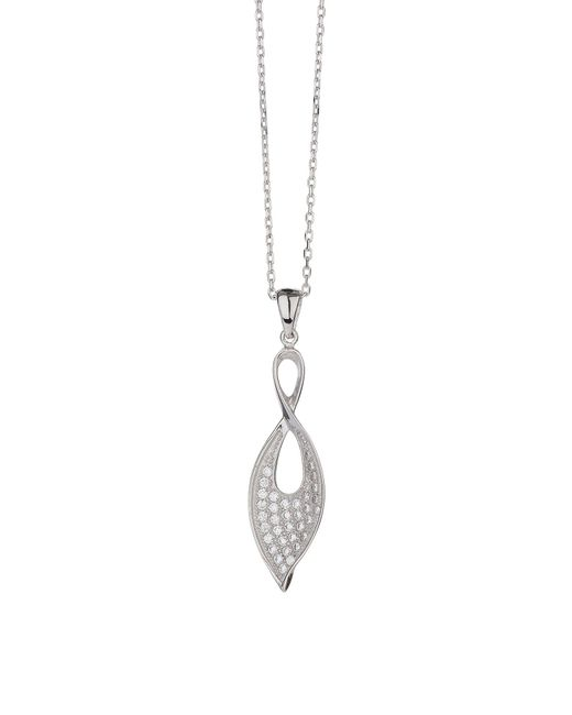 Mikey - Metallic Sterling Silver 925 Flame Twin Pendant - Lyst