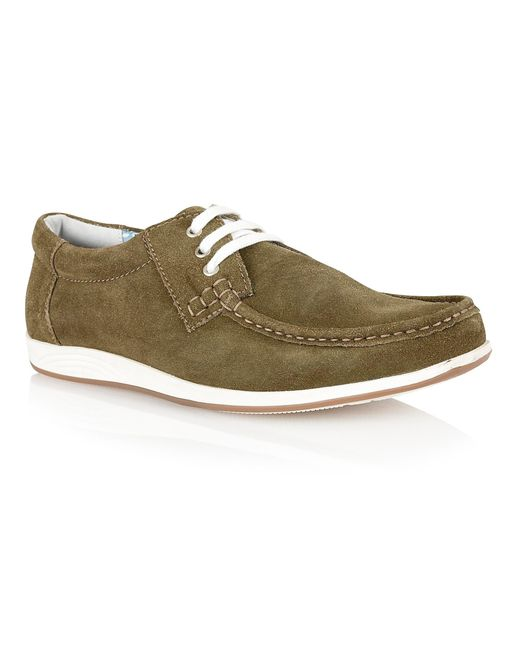 Lotus - Green Allington Lace Up Casual Moccasins for Men - Lyst