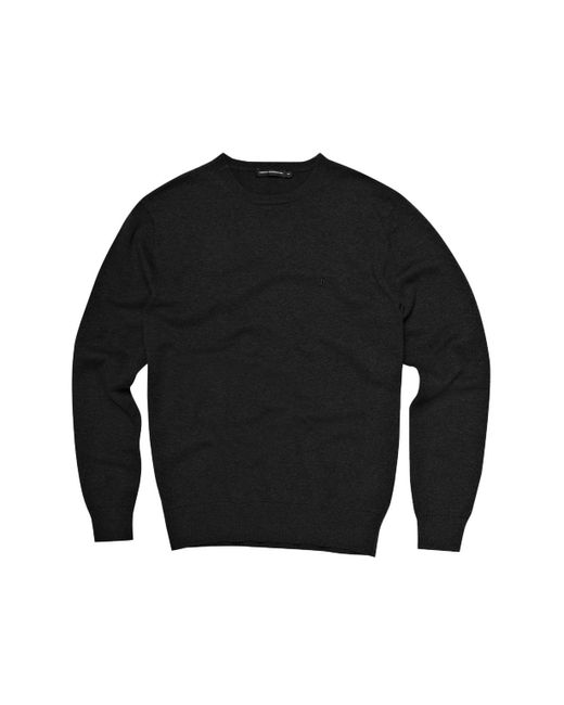 French Connection | Black Auderly Cotton Crew Neck for Men | Lyst