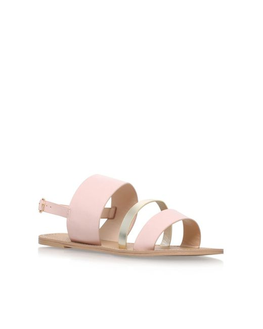 Carvela Kurt Geiger | Natural Binky Flat Sandals | Lyst