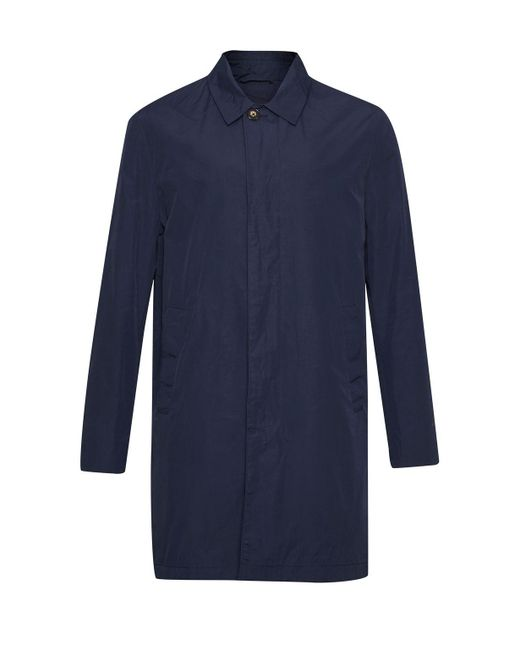 French Connection | Blue Winter Rain Mac Coat for Men | Lyst
