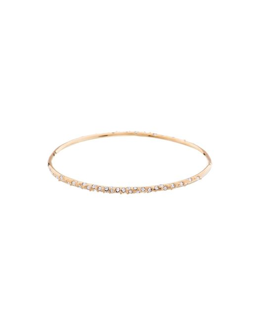 Karen Millen - Metallic Gold & Crystal Sprinkle Bangle - Lyst