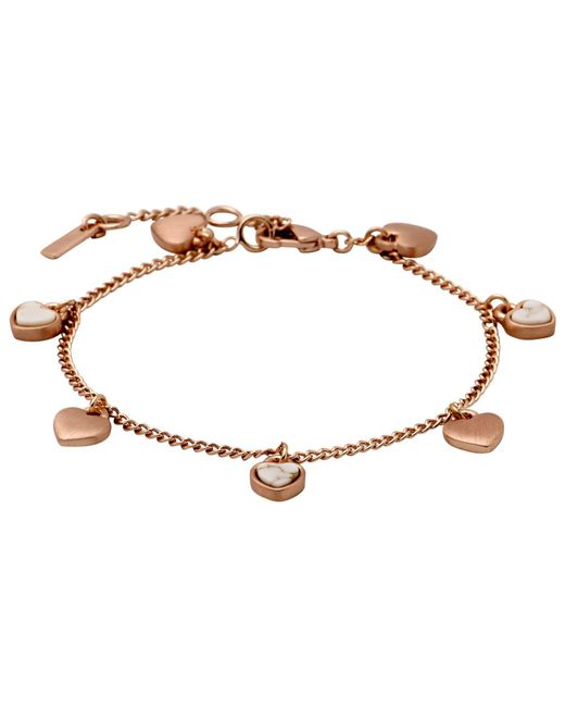 Pilgrim | Metallic Beautiful Bracelet With Pretty Rostones | Lyst