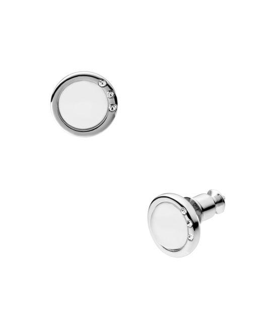 Skagen - White Skj0103040 Sea Glass Silver-tone Earrings - Lyst