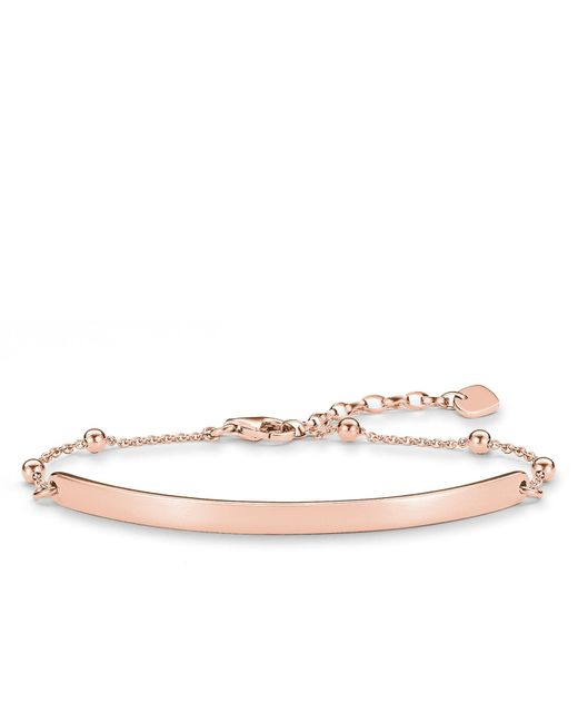 Thomas Sabo - Metallic Love Bridge Rose Gold Dot Bracelet - Lyst