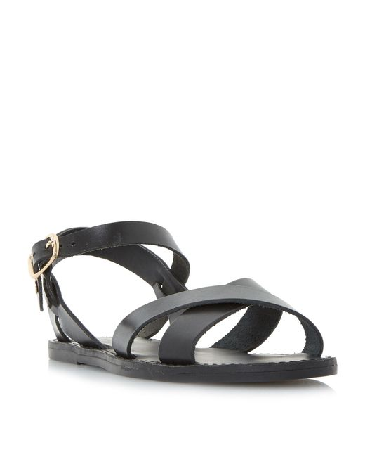 Dune | Multicolor Laila Cross Vamp Flat Sandals | Lyst