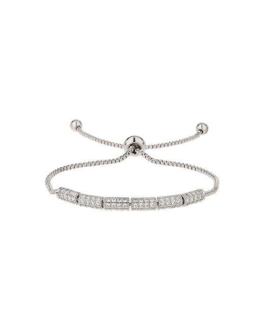 Mikey - Metallic Cubic Rectangle Beads Tie Up Bracelet - Lyst