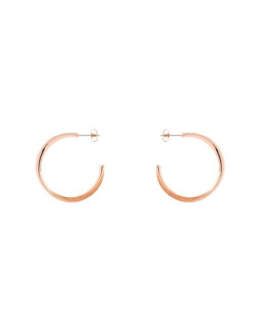 Karen Millen - Metallic K8992403 Textured Twist Hoop Earrings - Lyst