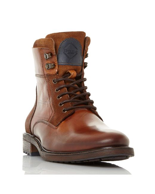 Dune - Brown Colchester Lace Up Worker Boots for Men - Lyst