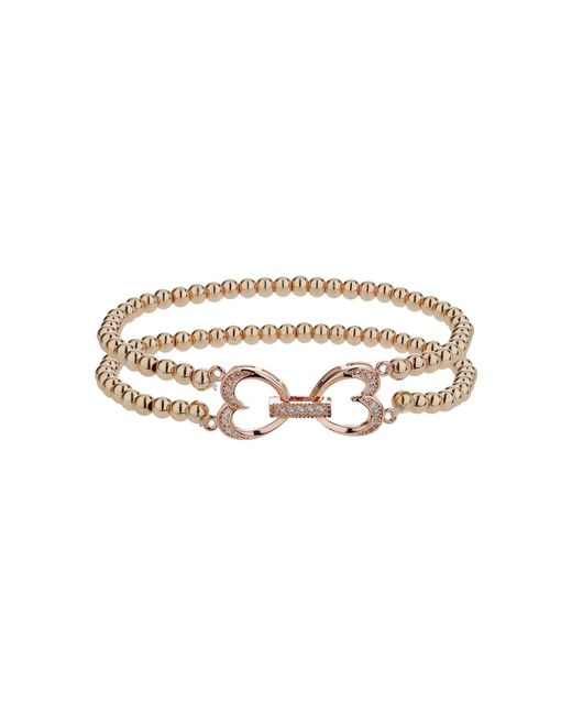 Mikey | Pink Twin Heart Twin Elastic Bracelet | Lyst