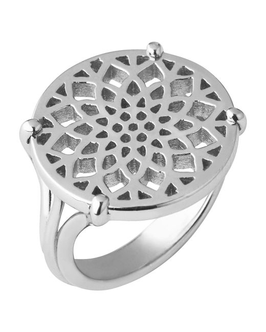 Links of London - Metallic Timeless Sterling Silver Coin Ring- Size L - Lyst
