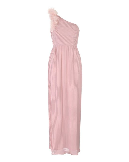 Jane Norman | Pink One Shoulder Flower Maxi Dress | Lyst