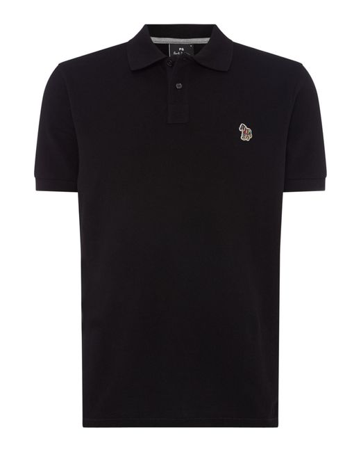 PS by Paul Smith - Black Men's Zebra Logo Organic Cotton Polo Shirt for Men - Lyst