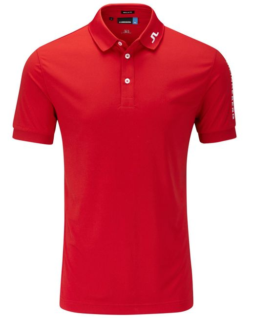 J.Lindeberg | Red Tour Tech Tx Polo Shirt for Men | Lyst