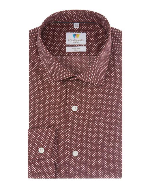 Richard James | Red Handrawn Spot Shirt for Men | Lyst