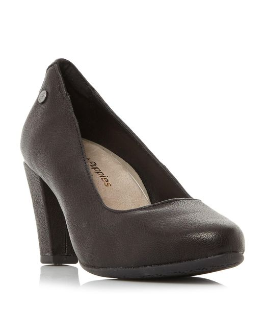 Hush Puppies   Black Minham Meaghan Almond Toe Court Shoes   Lyst