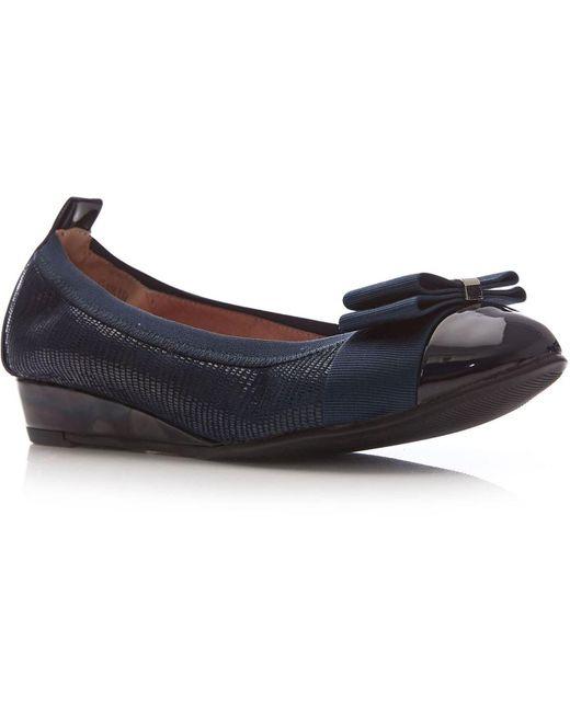 Moda In Pelle Blue Garina Low Smart Shoes