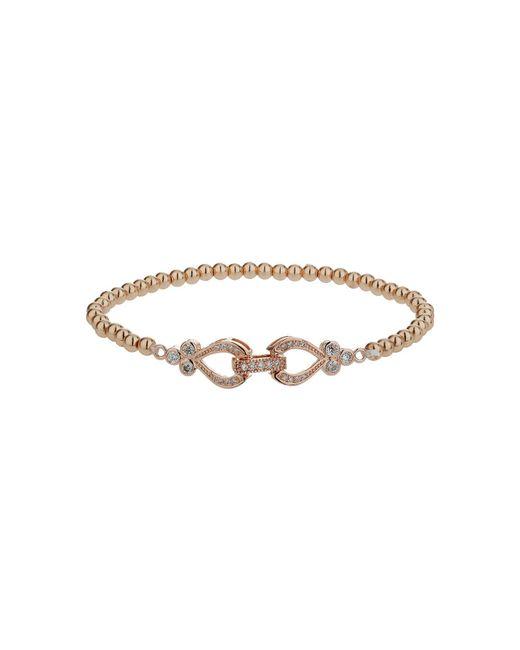 Mikey - Metallic Twin Heart Interlock Bracelet - Lyst