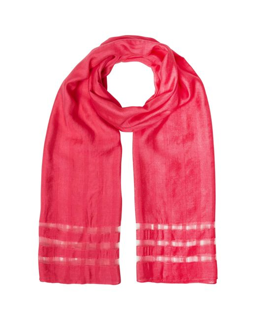 White Stuff | Pink Window Pane Scarf | Lyst