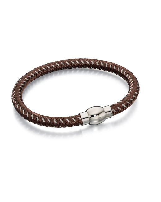 Fred Bennett - Brown And Grey Nylon Bracelet for Men - Lyst