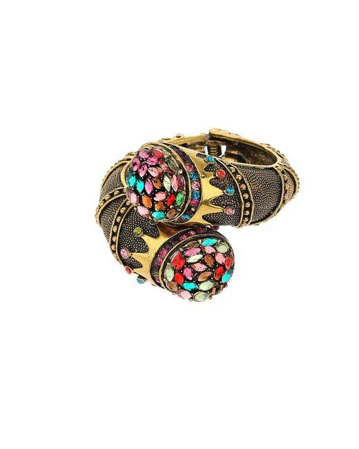 Mikey - Brown Antique Design Bracelet - Lyst
