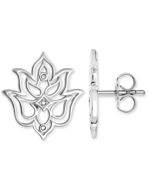 Thomas Sabo | Metallic Glam & Soul Cut-out Lotus Diamond Ear Studs | Lyst