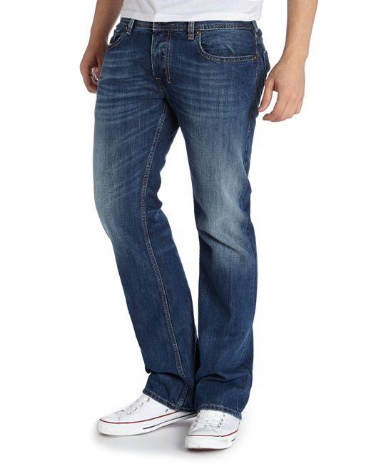 Diesel Zatiny 8xr Bootcut Jeans in Blue for Men | Lyst Diesel Jeans Men Bootcut