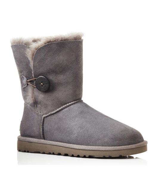 UGG | Gray B Button Grey Boots | Lyst