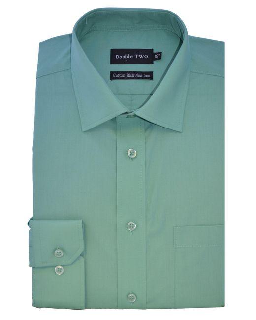 Double Two | Blue Plain Poplin Long Sleeve Shirt for Men | Lyst
