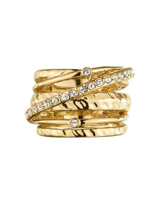 Dyrberg/Kern | Metallic Wendolyn Shiny Gold Crystal Ring | Lyst