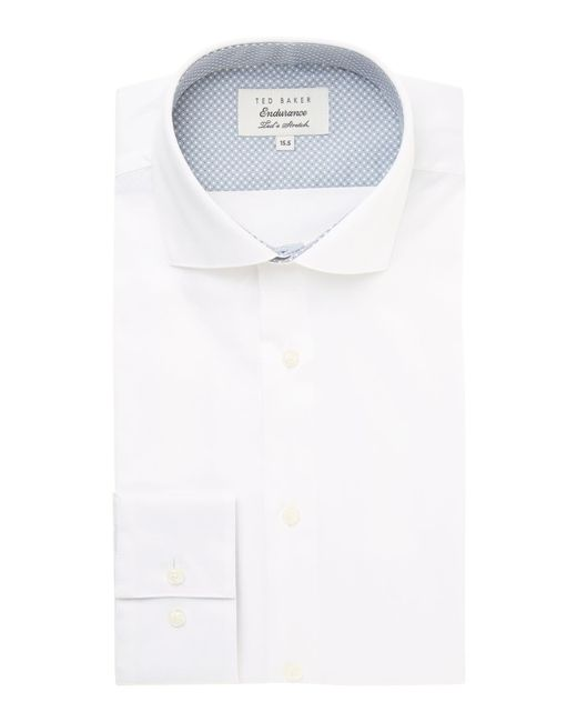 Ted Baker | White Rosest Slim Fit Plain Poplin Shirt for Men | Lyst