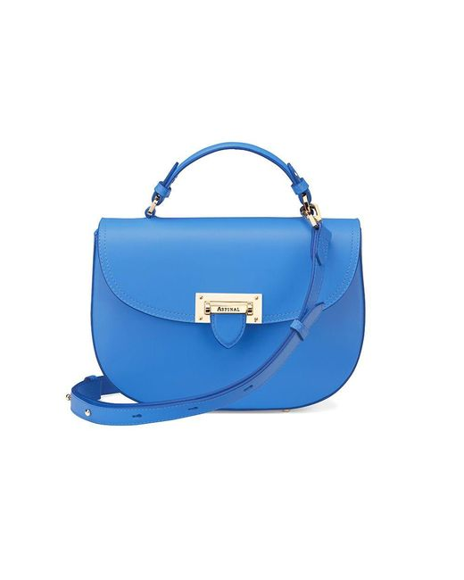 Aspinal | Blue Letterbox Saddle Bag | Lyst