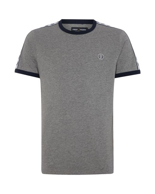 Fred Perry | Gray Plain Crew Neck Regular Fit T-shirt for Men | Lyst
