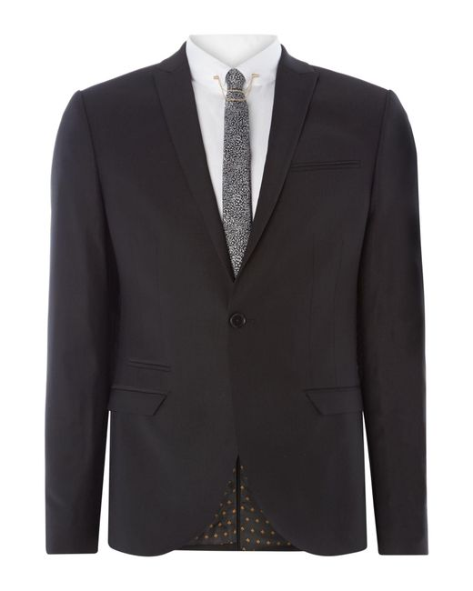 Label Lab | Black Rutherford Peak Lapel Skinny Suit Jacket for Men | Lyst