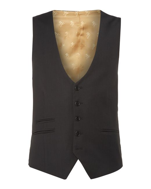 Label Lab | Black Rutherford Plain Skinny Waistcoat for Men | Lyst