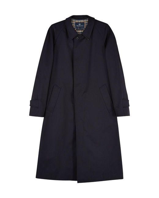 Aquascutum | Blue Filey Single Breasted Raincoat for Men | Lyst