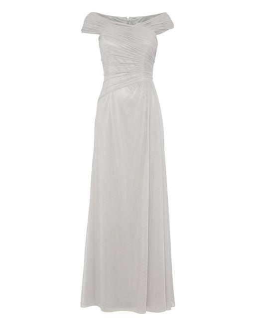 Anoushka G | Gray Mary Mesh Maxi Rushed Dress | Lyst