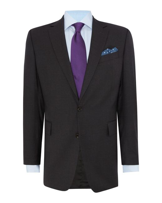 Chester Barrie | Gray Plain Weave Notch Collar Tailored Fit Suit for Men | Lyst