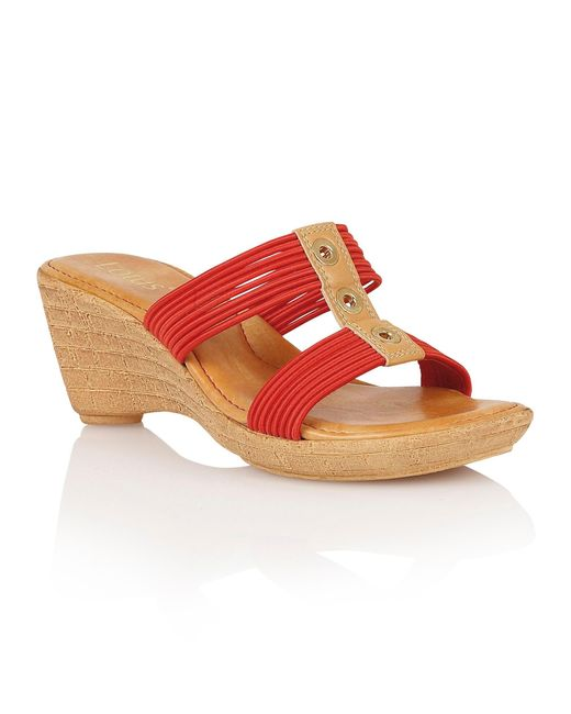 Lotus | Red Verona Wedge Sandals | Lyst