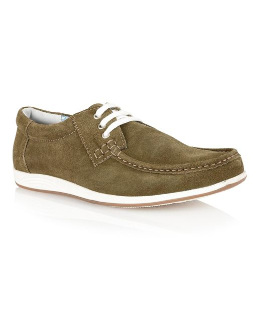 Lotus | Green Allington Lace Up Casual Moccasins for Men | Lyst