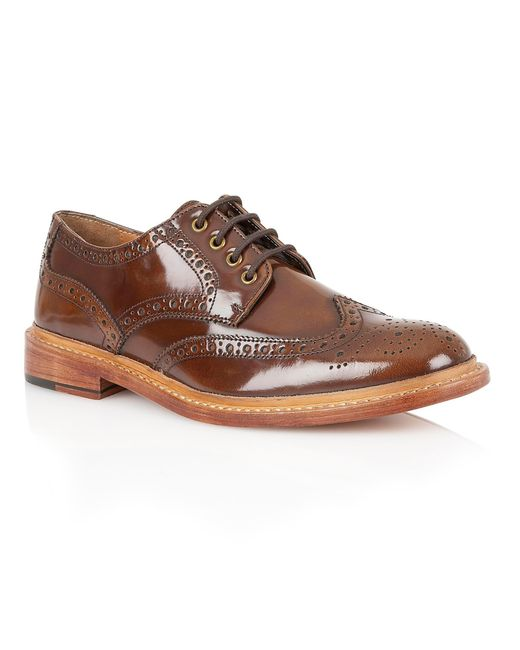 Lotus | Brown Edward Lace Up Formal Brogues for Men | Lyst